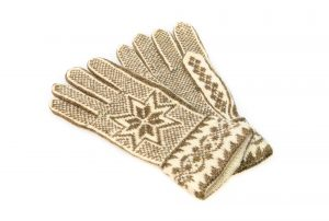 Fair Isle star gloves
