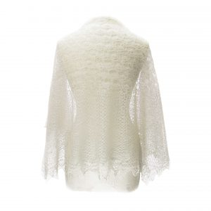 Lace bed jacket Back View