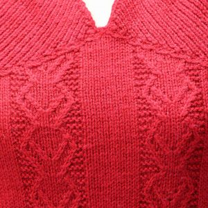 Red Pullover Close-up