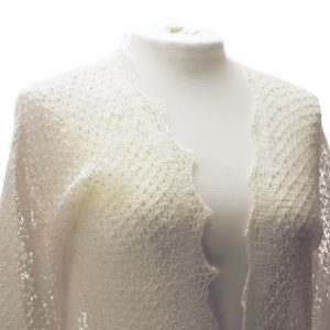 Lace bed jacket detail